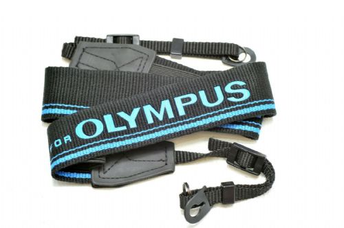 High Quality Retro Style DSLR Camera Neck / Shoulder Strap Olympus Blue / Black